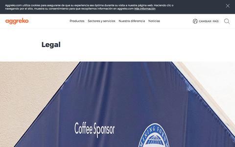 Screenshot of Terms Page aggreko.com - Legal | Aggreko - captured Oct. 7, 2017