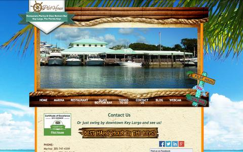 Screenshot of Contact Page Maps & Directions Page pilothousemarina.com - The Pilot House Marina, Restaurant & Glass Bottom Bar in Key Largo, Florida - captured Oct. 2, 2014