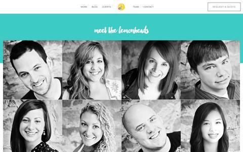 Screenshot of Team Page lemonly.com - Lemonly Team: Infographic design company   Infographic Designers - captured July 21, 2015