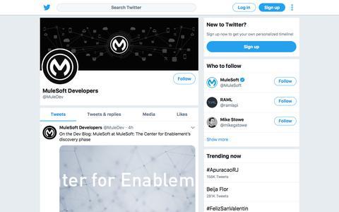 Tweets by MuleSoft Developers (@MuleDev) – Twitter