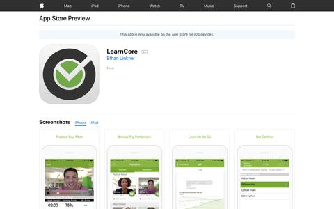 LearnCore on the App Store