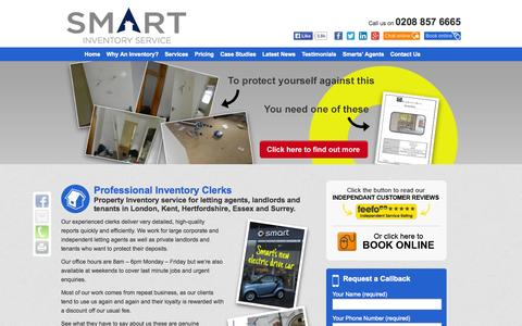 Screenshot of Home Page smart-inventory.co.uk - Smart-Inventory | Inventory Clerk in London, Inventory Check and Services - captured Oct. 9, 2014