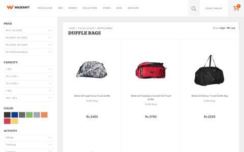 Screenshot of wildcraft.in - Buy Wildcraft Duffle Bags for Men and Women at Online Store - captured March 18, 2016