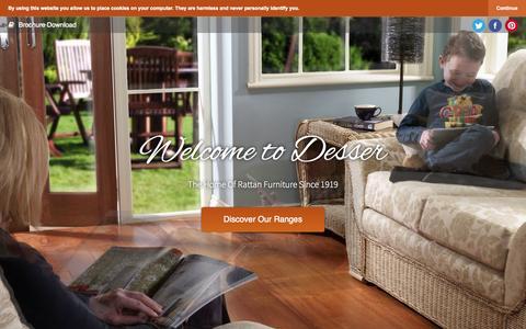 Screenshot of Home Page desser.co.uk - Desser & Co | Rattan Furniture - captured Jan. 27, 2015