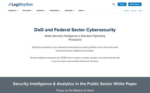 DoD and Federal Sector Cybersecurity | LogRhythm