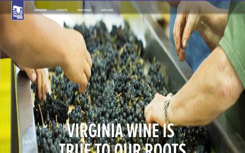 Screenshot of Home Page virginiawine.org - Virginia Wine - captured Jan. 19, 2016