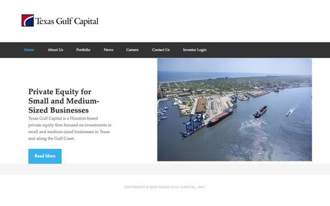 Screenshot of Home Page texasgulfcapital.com - Private Equity for Small and Medium Businesses - Texas Gulf Capital - captured Sept. 30, 2014