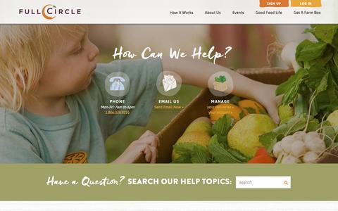 Screenshot of Contact Page fullcircle.com - Full Circle - contact-help-faq Page - captured June 2, 2017