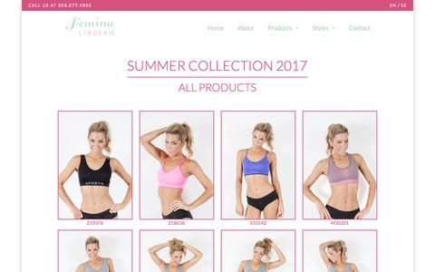 Screenshot of Products Page feminawoman.com - Products -  Women's Panties Wholesale - Femina Lingerie - captured Oct. 5, 2017