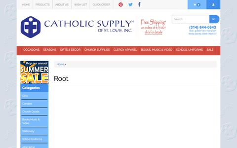 Screenshot of Products Page catholicsupply.com - Root - captured June 28, 2017