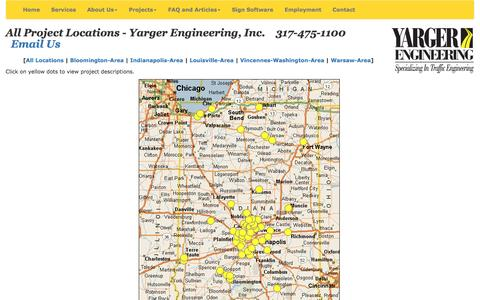 Screenshot of Locations Page yargerengineering.com - All Project Locations - captured Nov. 19, 2016
