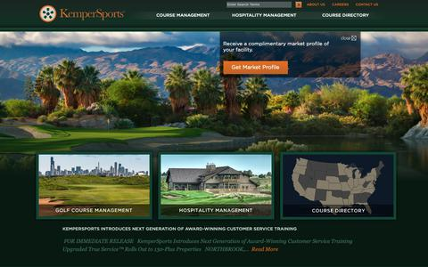 Screenshot of Home Page kempersports.com - Golf Course Management Company | Hospitality Management Company | KemperSports - captured Sept. 28, 2018