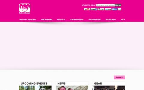 Screenshot of Home Page fastandfemale.com - Welcome to Fast and Female - captured June 17, 2015