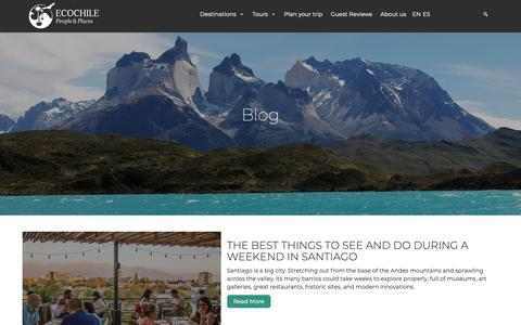 Screenshot of Blog ecochile.travel - Ecochile - captured Sept. 27, 2018