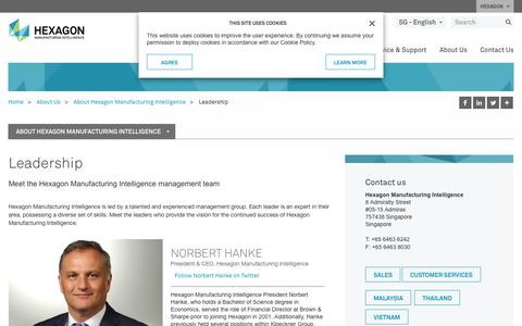 Screenshot of Team Page hexagonmi.com - Leadership | Hexagon Manufacturing Intelligence - captured Oct. 21, 2018