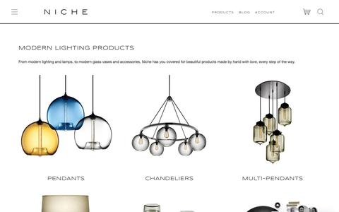 Screenshot of Products Page nichemodern.com - Niche: Products - captured May 17, 2019