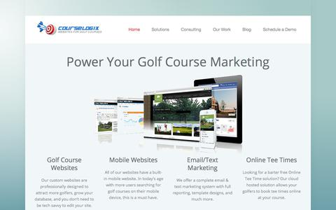 Screenshot of Home Page course-logix.com - Websites for Golf Courses - captured July 22, 2018