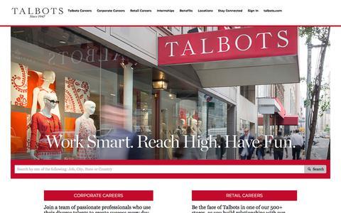 Screenshot of Jobs Page talbots.com - Careers at Talbots - captured Nov. 2, 2019