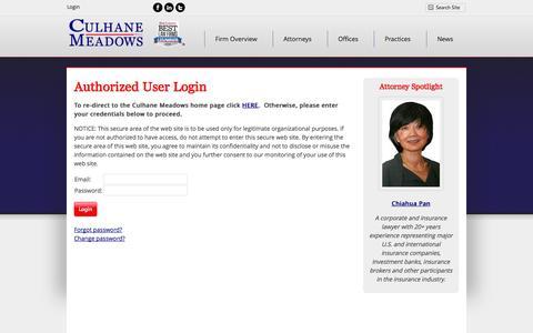 Screenshot of Login Page culhanemeadows.com - CM Website Login - captured Oct. 3, 2014