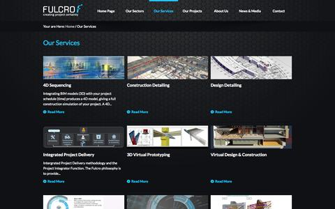 Screenshot of Services Page fulcro.co.uk - Our Services - Fulcro - captured Nov. 3, 2014