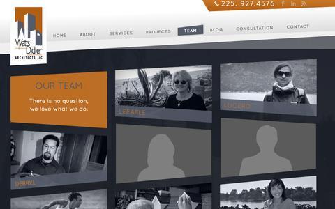 Screenshot of Team Page wattsdidier.com - Team - Watts Didier - captured Oct. 9, 2014