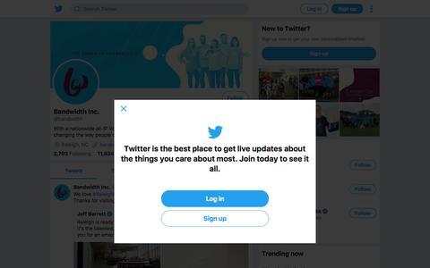 Tweets by Bandwidth Inc. (@bandwidth) – Twitter