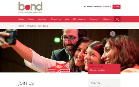 Screenshot of Signup Page bond.org.uk - Join us | Bond - captured Feb. 8, 2016