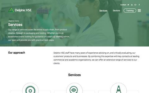 Screenshot of Services Page delphichse.com - Services   Delphic HSE - captured June 4, 2017