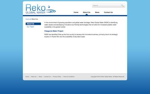 Screenshot of About Page rekogw.com - About Us | Reko Global Water - captured Sept. 17, 2014