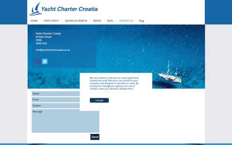 Screenshot of Contact Page yachtchartercroatia.co.uk - Yacht Charter Croatia|Contact Us - captured Jan. 27, 2018