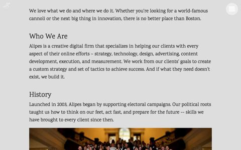 Screenshot of Jobs Page alipes.com - Alipes | Agency - captured Oct. 8, 2017