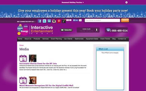Screenshot of Press Page interactiveparty.com - Media   Interactive Entertainment Concepts, Inc. - captured Nov. 2, 2014