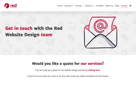 Screenshot of Contact Page red-website-design.co.uk - Contact Red Website Design - captured July 14, 2019