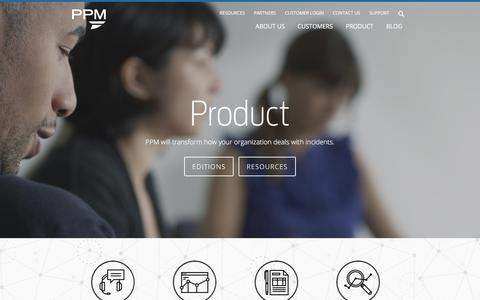 Screenshot of Products Page ppm2000.com - Product - Incident & Investigation Management Software | PPM - captured Dec. 6, 2015