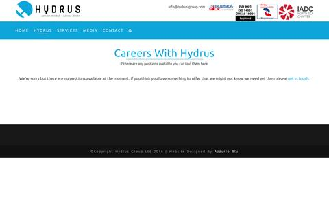 Screenshot of Jobs Page hydrus-group.com - Careers – Hydrus - captured May 24, 2017