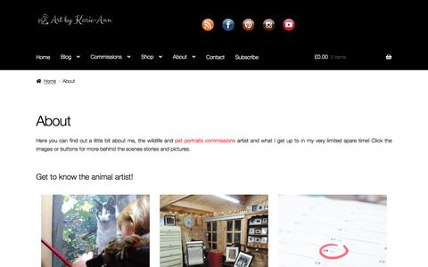 Screenshot of About Page artbykarie-ann.co.uk - About animal artist Karie-Ann Cooper - captured Feb. 25, 2020