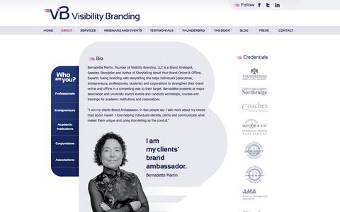 Screenshot of About Page visibilitybranding.fr - About | Visibility Branding - captured Oct. 9, 2014