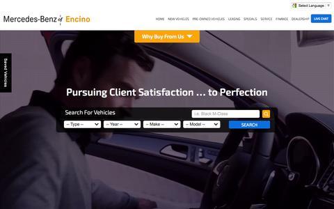 Screenshot of Home Page mbencino.com - Mercedes-Benz Dealer in Encino   Mercedes-Benz of Encino - captured Nov. 3, 2015
