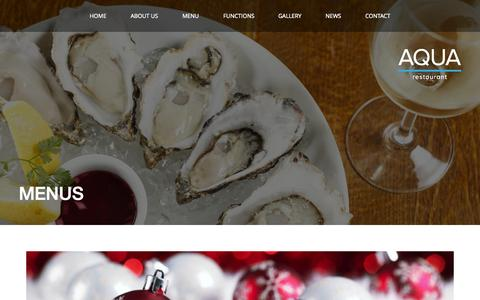 Screenshot of Menu Page aqua.ie - Menus - Aqua Restaurant - captured Oct. 4, 2014