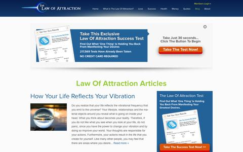 Screenshot of Blog thelawofattraction.com - The Secret Law Of Attraction Blog - Inspiration & Teachings | The Law Of Attraction - captured Oct. 31, 2014