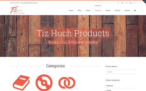 Screenshot of Products Page tizhuch.com - Products – Tiz Huch Website - captured Feb. 26, 2018