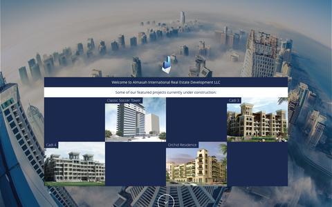 Screenshot of Home Page almasahint.com - Almasah International Real Estate Development - captured June 18, 2015