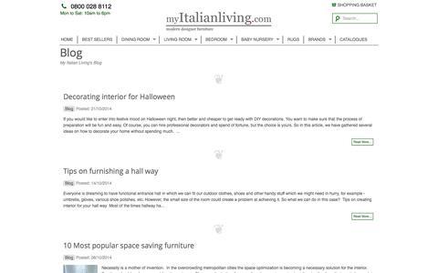 Screenshot of Blog myitalianliving.com - My Italian Living's BlogMy Italian Living Ltd - captured Oct. 29, 2014