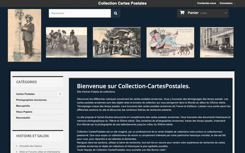 Screenshot of Home Page collection-cartespostales.com - Cartes Postales Anciennes  - Collection Cartes Postales - captured Oct. 29, 2018
