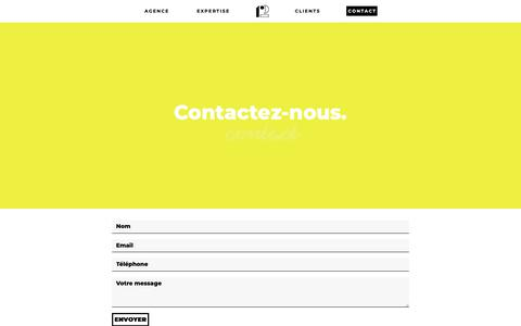 Screenshot of Contact Page r2.fr - Contact - R2 Agence Digitale - captured Oct. 18, 2018