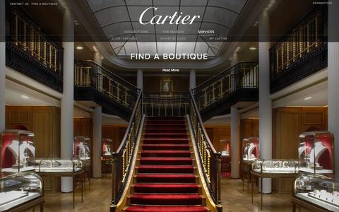 Screenshot of Services Page cartier.com - Cartier Customer Services - Fine Jeweler, Luxury Watchmaker, Bridal and Luxury Leather Goods - captured Sept. 18, 2014