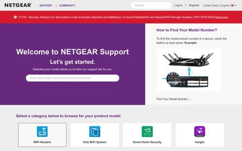 Support   NETGEAR