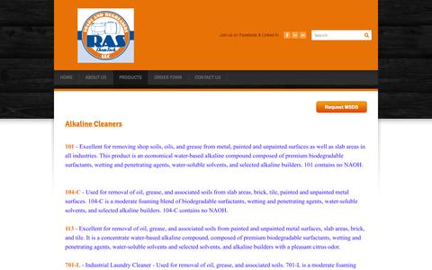 Screenshot of Products Page raschemtech.com - Products - RAS Chem Tech, LLC - captured Oct. 26, 2014
