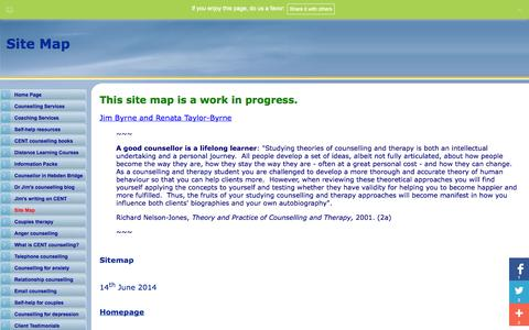 Screenshot of Site Map Page abc-counselling.com - Site Map - captured Sept. 24, 2014
