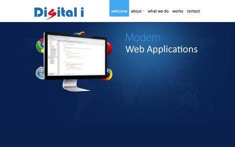 Screenshot of Home Page digitali.co.in - Digitali - Modern web application development, UI/UX, mobile development, SEO, Social Media Marketing - captured Sept. 18, 2015
